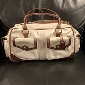 Authentic canvas Coach bag